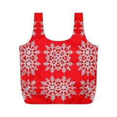 Background For Scrapbooking Or Other Stylized Snowflakes Full Print Recycle Bags (m)