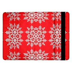 Background For Scrapbooking Or Other Stylized Snowflakes Samsung Galaxy Tab Pro 12.2  Flip Case