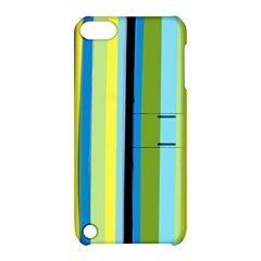 Simple Lines Rainbow Color Blue Green Yellow Black Apple Ipod Touch 5 Hardshell Case With Stand