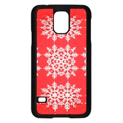 Background For Scrapbooking Or Other Stylized Snowflakes Samsung Galaxy S5 Case (black)