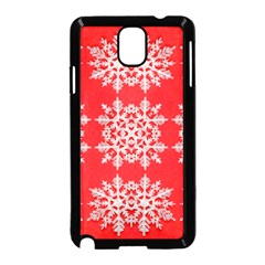 Background For Scrapbooking Or Other Stylized Snowflakes Samsung Galaxy Note 3 Neo Hardshell Case (black)