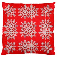 Background For Scrapbooking Or Other Stylized Snowflakes Large Flano Cushion Case (one Side)