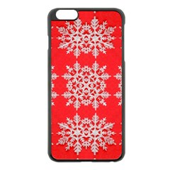 Background For Scrapbooking Or Other Stylized Snowflakes Apple Iphone 6 Plus/6s Plus Black Enamel Case