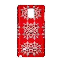 Background For Scrapbooking Or Other Stylized Snowflakes Samsung Galaxy Note 4 Hardshell Case