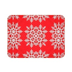 Background For Scrapbooking Or Other Stylized Snowflakes Double Sided Flano Blanket (mini)