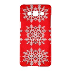 Background For Scrapbooking Or Other Stylized Snowflakes Samsung Galaxy A5 Hardshell Case