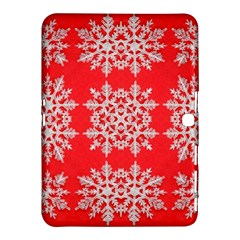 Background For Scrapbooking Or Other Stylized Snowflakes Samsung Galaxy Tab 4 (10 1 ) Hardshell Case