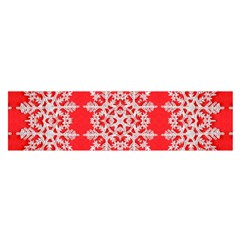 Background For Scrapbooking Or Other Stylized Snowflakes Satin Scarf (oblong)
