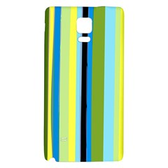 Simple Lines Rainbow Color Blue Green Yellow Black Galaxy Note 4 Back Case