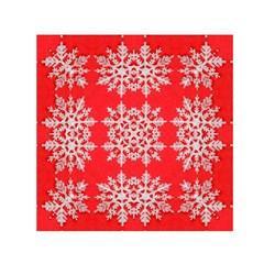 Background For Scrapbooking Or Other Stylized Snowflakes Small Satin Scarf (square)