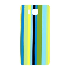 Simple Lines Rainbow Color Blue Green Yellow Black Samsung Galaxy Alpha Hardshell Back Case