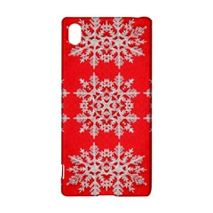 Background For Scrapbooking Or Other Stylized Snowflakes Sony Xperia Z3+