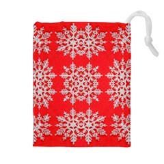 Background For Scrapbooking Or Other Stylized Snowflakes Drawstring Pouches (Extra Large)