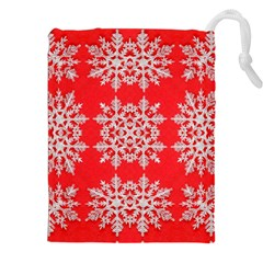 Background For Scrapbooking Or Other Stylized Snowflakes Drawstring Pouches (xxl)