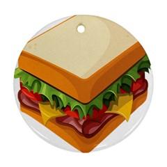 Sandwich Breat Chees Ornament (round)