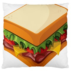 Sandwich Breat Chees Large Cushion Case (two Sides)