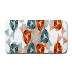 School Fish  Orange Grey Medium Bar Mats