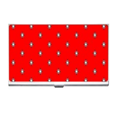 Simple Red Star Light Flower Floral Business Card Holders