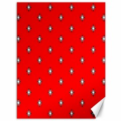 Simple Red Star Light Flower Floral Canvas 36  X 48
