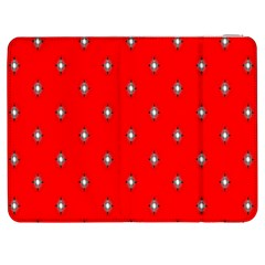 Simple Red Star Light Flower Floral Samsung Galaxy Tab 7  P1000 Flip Case