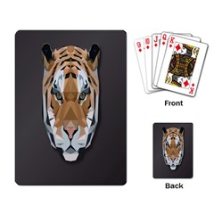 Tiger Face Animals Wild Playing Card