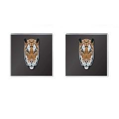 Tiger Face Animals Wild Cufflinks (square)