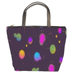 Spots Bright Rainbow Color Bucket Bags