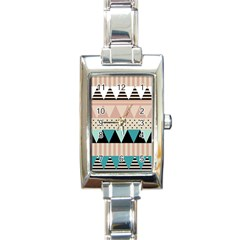 Triangle Wave Chevron Grey Rectangle Italian Charm Watch