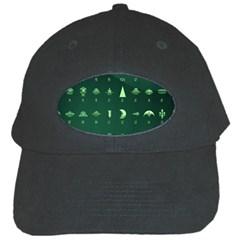 Ufo Alien Green Black Cap