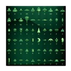 Ufo Alien Green Tile Coasters