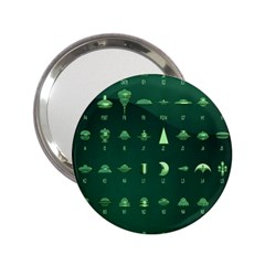 Ufo Alien Green 2 25  Handbag Mirrors