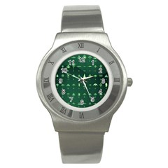 Ufo Alien Green Stainless Steel Watch
