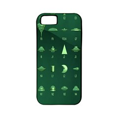 Ufo Alien Green Apple Iphone 5 Classic Hardshell Case (pc+silicone)