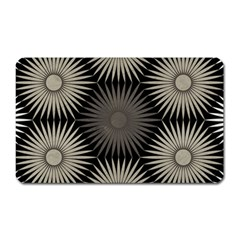 Sunflower Black White Magnet (rectangular)