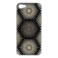 Sunflower Black White Apple Iphone 5 Case (silver)