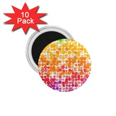 Spots Paint Color Green Yellow Pink Purple 1 75  Magnets (10 Pack)