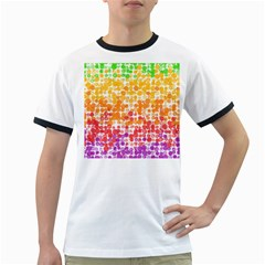 Spots Paint Color Green Yellow Pink Purple Ringer T Shirts