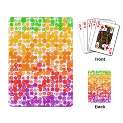 Spots Paint Color Green Yellow Pink Purple Playing Card