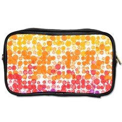 Spots Paint Color Green Yellow Pink Purple Toiletries Bags
