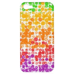 Spots Paint Color Green Yellow Pink Purple Apple Iphone 5 Hardshell Case