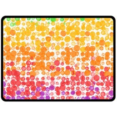 Spots Paint Color Green Yellow Pink Purple Double Sided Fleece Blanket (large)