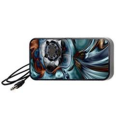 Light Color Floral Grey Portable Speaker (black)