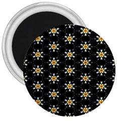 Background For Scrapbooking Or Other With Flower Patterns 3  Magnets