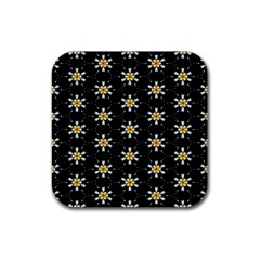 Background For Scrapbooking Or Other With Flower Patterns Rubber Coaster (square)