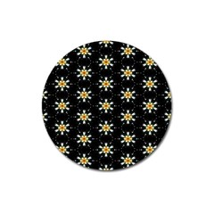 Background For Scrapbooking Or Other With Flower Patterns Magnet 3  (Round)