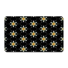 Background For Scrapbooking Or Other With Flower Patterns Magnet (Rectangular)