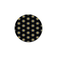 Background For Scrapbooking Or Other With Flower Patterns Golf Ball Marker (4 pack)