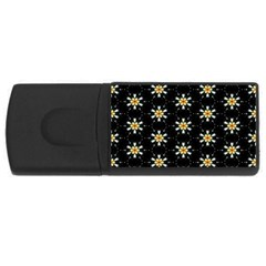 Background For Scrapbooking Or Other With Flower Patterns USB Flash Drive Rectangular (1 GB)