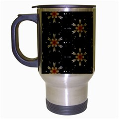Background For Scrapbooking Or Other With Flower Patterns Travel Mug (Silver Gray)