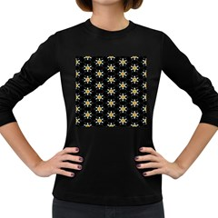 Background For Scrapbooking Or Other With Flower Patterns Women s Long Sleeve Dark T-Shirts